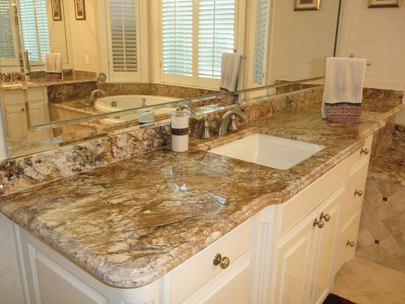 Photo Typhoon Bordeaux Granite Bathroom Vanity