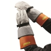 To get the utmost protection and life from gloves, leather protectors should always be worn over the rubber gloves while in use.
