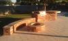 Falcon landscapes pavers & masonry - travertine pavers, bbq, firepit, raised bar and bench seating