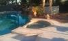 Falcon landscapes pavers & masonry travertine patio, spa & pool coping
