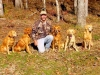 This is me clarke, the owner with some of my dogs