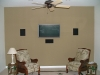Custome home theater and flat screen mounting