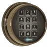 Electronic key pad entry for your safe