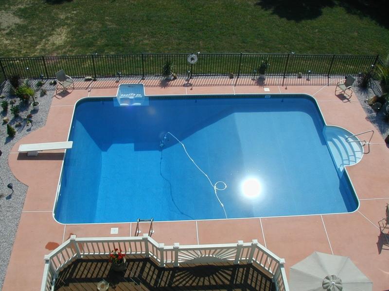 Photo inground vinyl liner pools for Vinyl inground pool