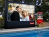 Outdoor movie equipment rentals.  3 size options for groups large and small.