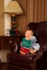 The young associate reading a criminal law book.
