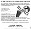 Coxwell & associates helping people with metal on metal hip implants.
