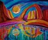 Rainbow passage  mixed watermedia on canvas by jacqui binford-bell