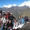 Edgar zambrano trekking guide and group of trekkers from czech republic in alpamayo circut trek 13 days cordillera blanca