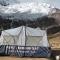 Our group trekking tent in base of ausangate mountain  - cusco ausangate 14 days trek