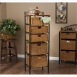 Holly & Martin Argyle Iron/Wicker Five-Drawer Unit