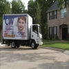 Truck in front of house from tv commercial