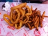 Half order of half fries and onion rings