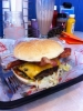 Size of the semi-serious burger
