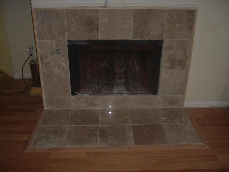 Photo Marble 12x12 Around Fireplace