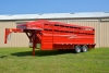 Our donahue stock trailer in red.