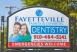 Signboard or our dentistry office near Kempton Place in Fayetteville NC
