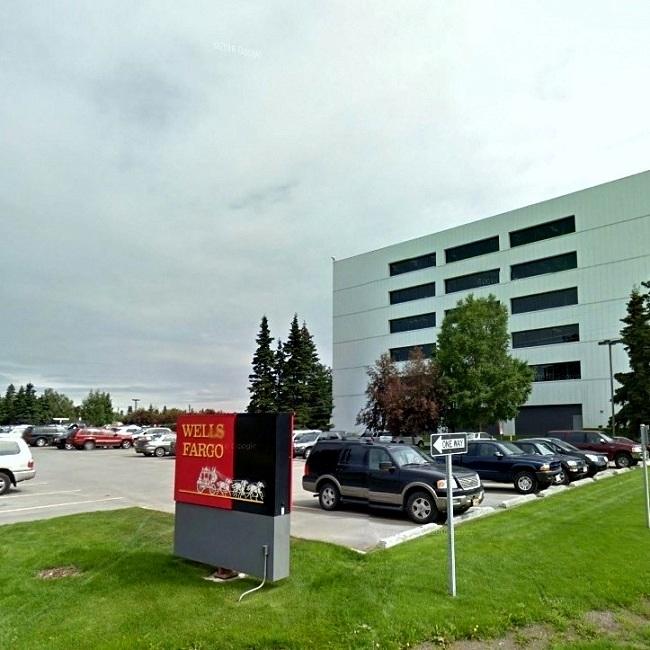 Wells Fargo bank on W Northern Lights Blvd near Anchorage Midtown Dental Center