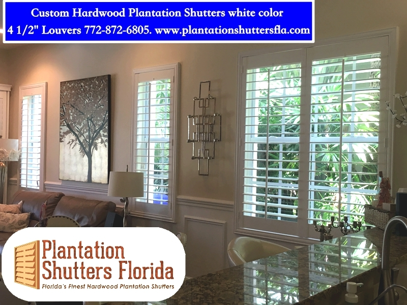 Beautiful plantation shutters installed in as few as 7 days  Hand crafted wood or poly shutters, measured, crafted and installed in as little as 7 days. Call today: 772-872-6805
