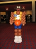 Basketball player made from balloons