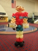Soccer player made from balloons