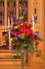 Wedding candelabra arrangement