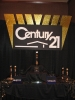 Century corporate party signage