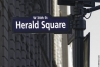 Herald square street sign - copyright 2009 marco castro