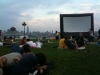 Movies under the stars at pier a