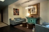 Sofa view in reception lounge area at jillian wright