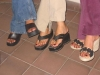 Pampered girls with happy feet at zen