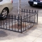 Customized decorative three sided tree guard