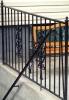Customized decorative perimeter fence w/ railings