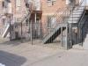 Customized decorative perimeter fence w/ staircase