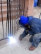 Welder working on site