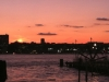 Sunset over hudson, view from frying pan