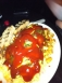 Garbage plate w/ a ridiculous amt of ketchup (self poured)