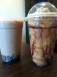 Milk tea with coffee jelly + frozen Vietnamese coffee with mocha