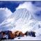 Alpamayo climbing at 5,947m. cordillera blanca peruvian mountains