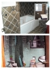 Bathroom fire - before & after